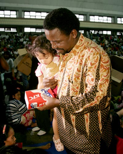 TB Joshua Feeding The Poor In Indonesia - We make a living by what we get; we make a life by what we give.