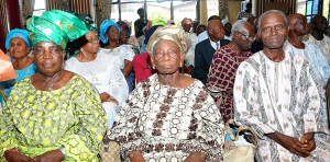 A cross section of the elderly ones at the SCOAN.