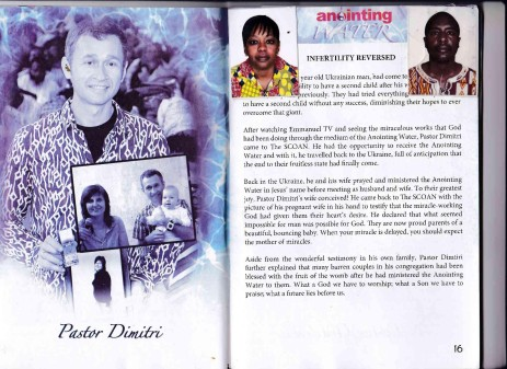 By faith, Mr & Mrs Andwati placed their pictures on the Anointing Water Booklet